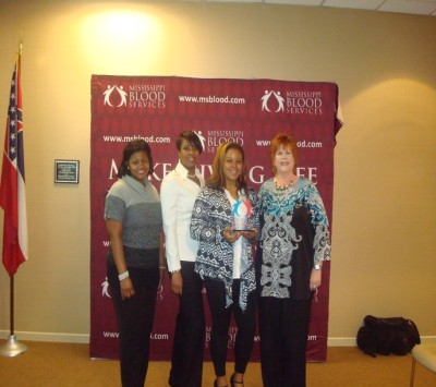 Holmes CC MS Blood Services Award